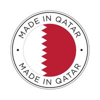 Made in Qatar flag icon.