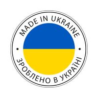 Made in Ukraine Kennzeichnungssymbol.