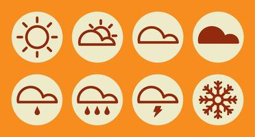 Weather Icons. vector illustration