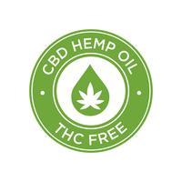 Ícone de óleo de cânhamo CBD. THC grátis.