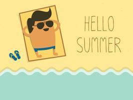 Ciao illustrazione vettoriale di estate