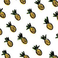 Ananas op witte achtergrond.