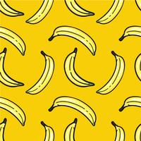 Hand drawn banana pattern
