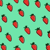 Strawberries on blue background