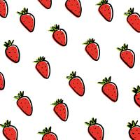 Strawberries on white background.