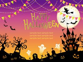 Naadloze Happy Halloween-achtergrond.
