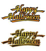 Un insieme di due marchi felici di Halloween, illustrazioni di vettore.
