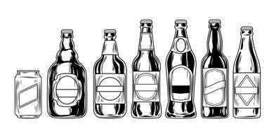 Ange ikoner för ölflaskor
