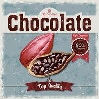 Kakao bönor på grunge bakgrund.