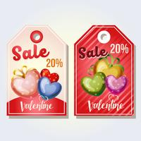 valentine tag colored love