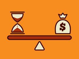 illustration vectorielle d'argent concept
