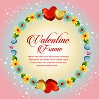 circle frame yellow blossom valentine card