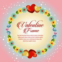 cirkel frame gele bloesem valentijn kaart