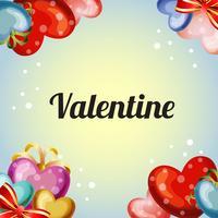 colored valentine love card