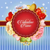 valentine card decorate beautiful flower