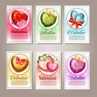 six valentine card