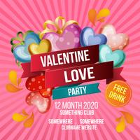 valentine love party template