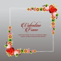 valentine frame decoration floral