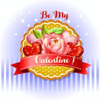 Sé mi tarjeta de San Valentín peonía