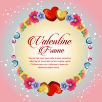 circle frame blossom valentine flower