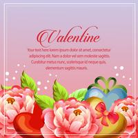 valentine card camellia decoration