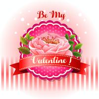 be my valentine card beautiful flower