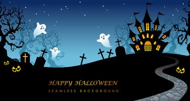 Happy Halloween seamless background with text space. vector
