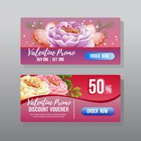 bannière web discount valentine promo