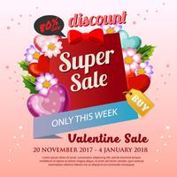 Blüte Valentin Verkauf Plakat