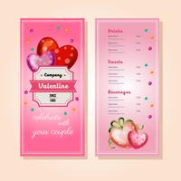 valentine menu template