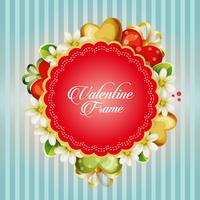 valentine card with jasmine flower ornate