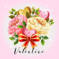 valentine illustration with beautiful flower