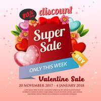 bloem valentijn verkoop poster