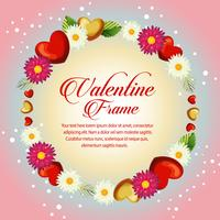 cirkel daisy frame valentijn kaart
