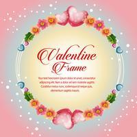 bloem cirkel frame valentijn kaart