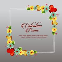 yellow floral valentine frame card