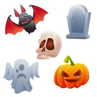 stock vector icono halloween set