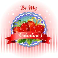 be my valentine card heart
