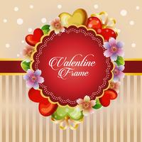 valentine card heart flower decoration