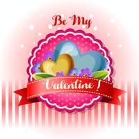 be my valentine card blue flower
