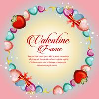 circle love frame valentine card