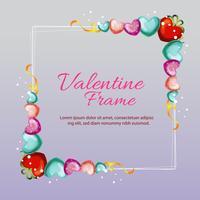 valentine love frame