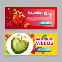 valentine love decoration web banner