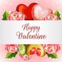 cartolina di San Valentino con camelia in fiore