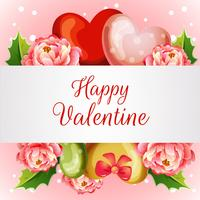 tarjeta de San Valentín con camelia flor