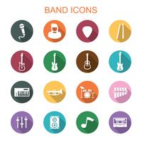 band long shadow icons