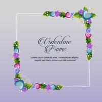 blauw bloemen valentijn frame