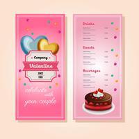 Valentinstag Kuchen Menüvorlage