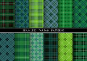 Seamless Tartan plaid set, vector illustration.