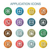 application long shadow icons
